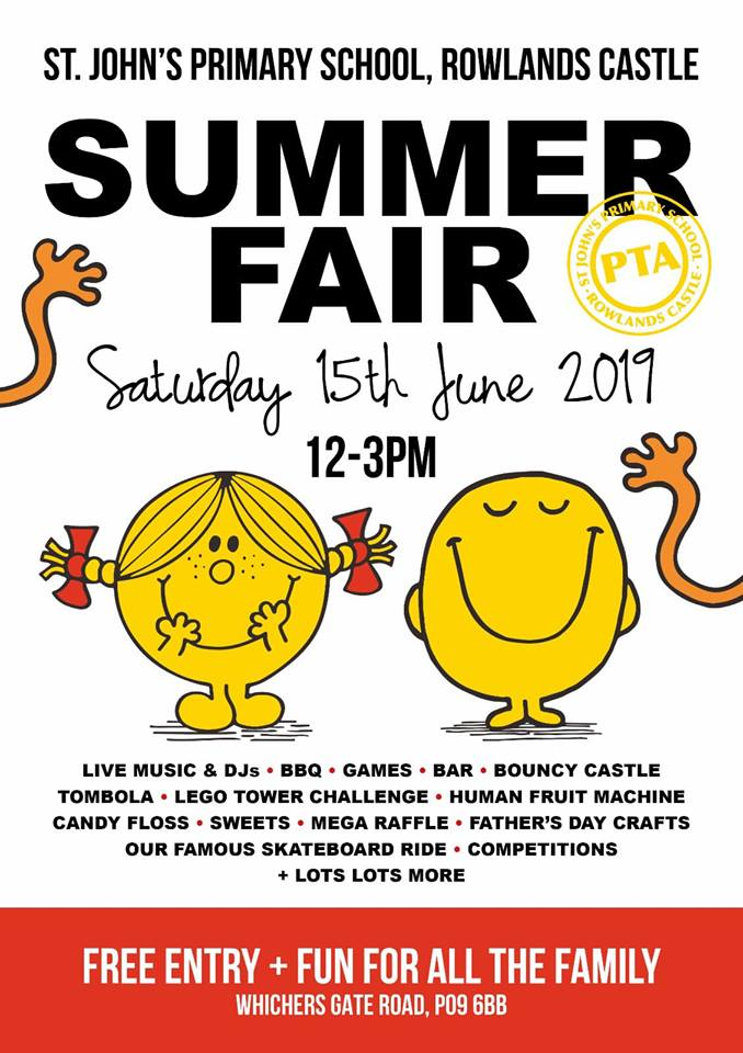 Summer Fair Saturday 15th June 2019